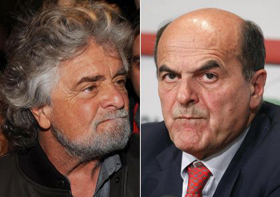 Grillo vs Bersani