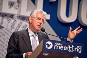 Mario Monti al Meeting di CL